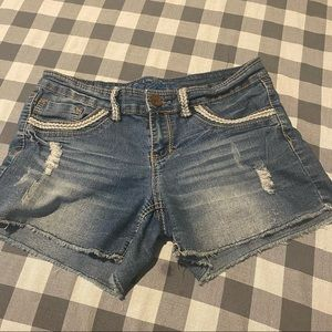 Ariya Jeans Raw Hem Shorts Juniors' 7/8